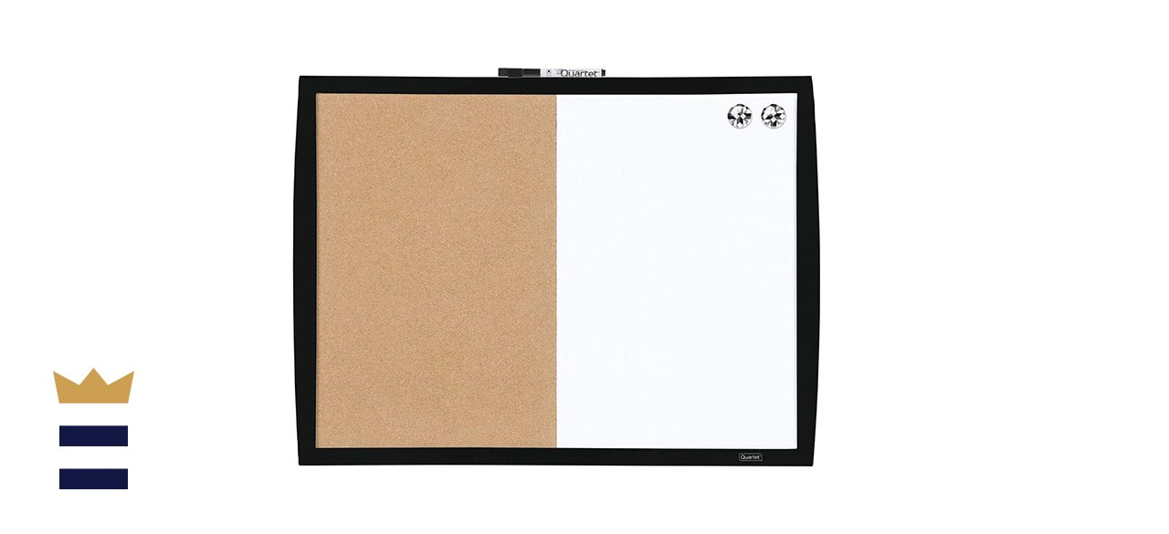 Mead Quartet Combination Magnetic Whiteboard and Cork Board Combo