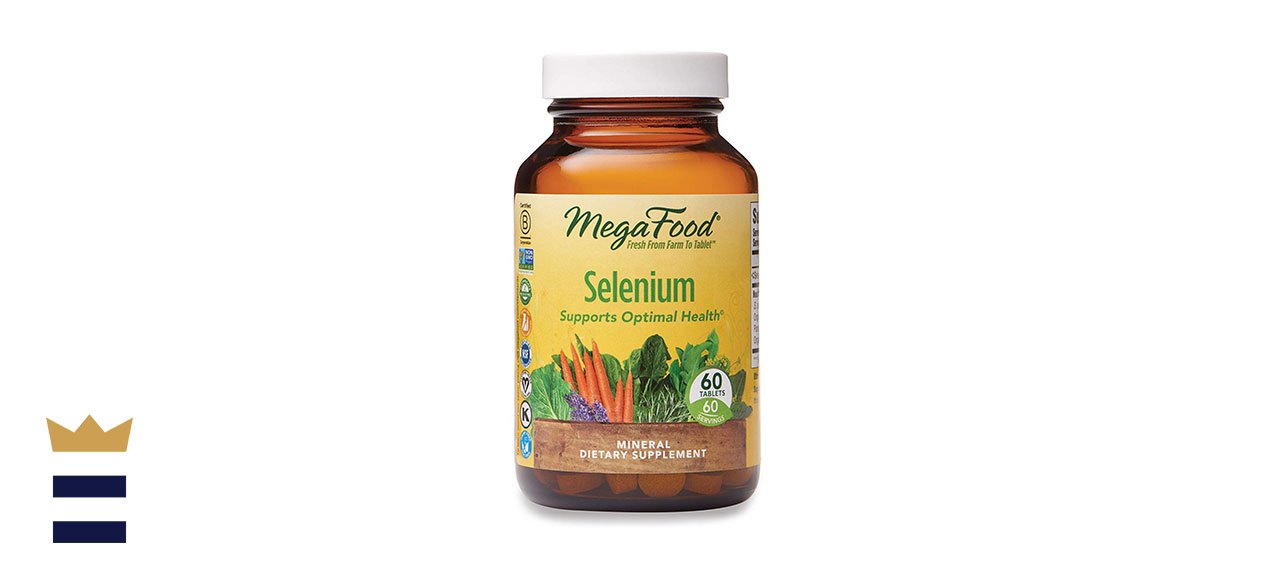 MegaFood Selenium, Mineral Support for Immune Health Enhanced with Organic Foods and Botanicals
