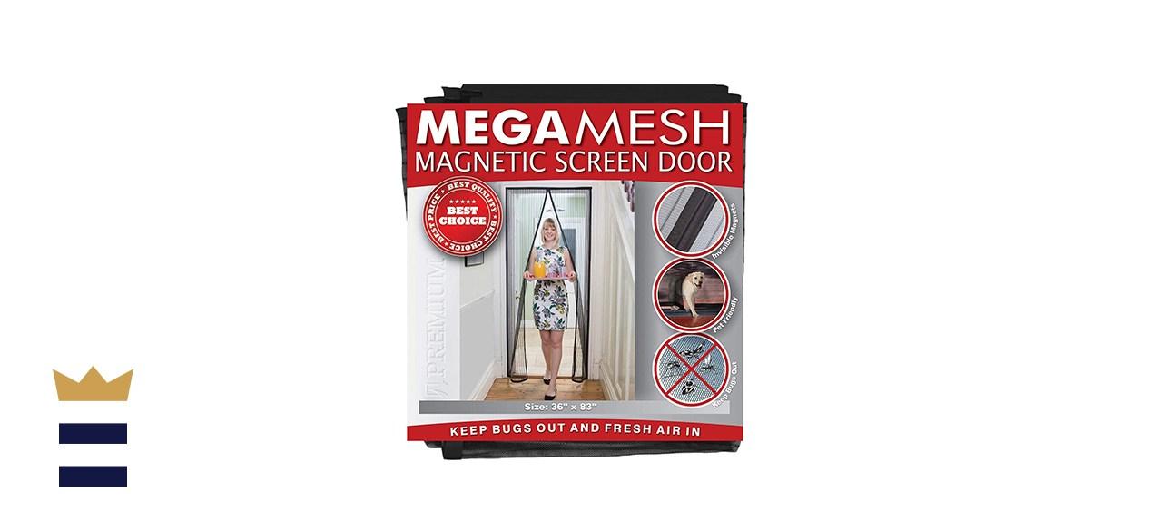 Megamesh magnetic screen door