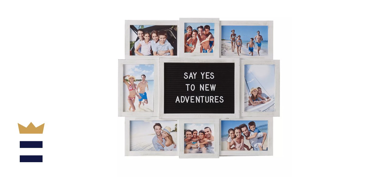 Melannco Customizable Letterboard and Photo Collage