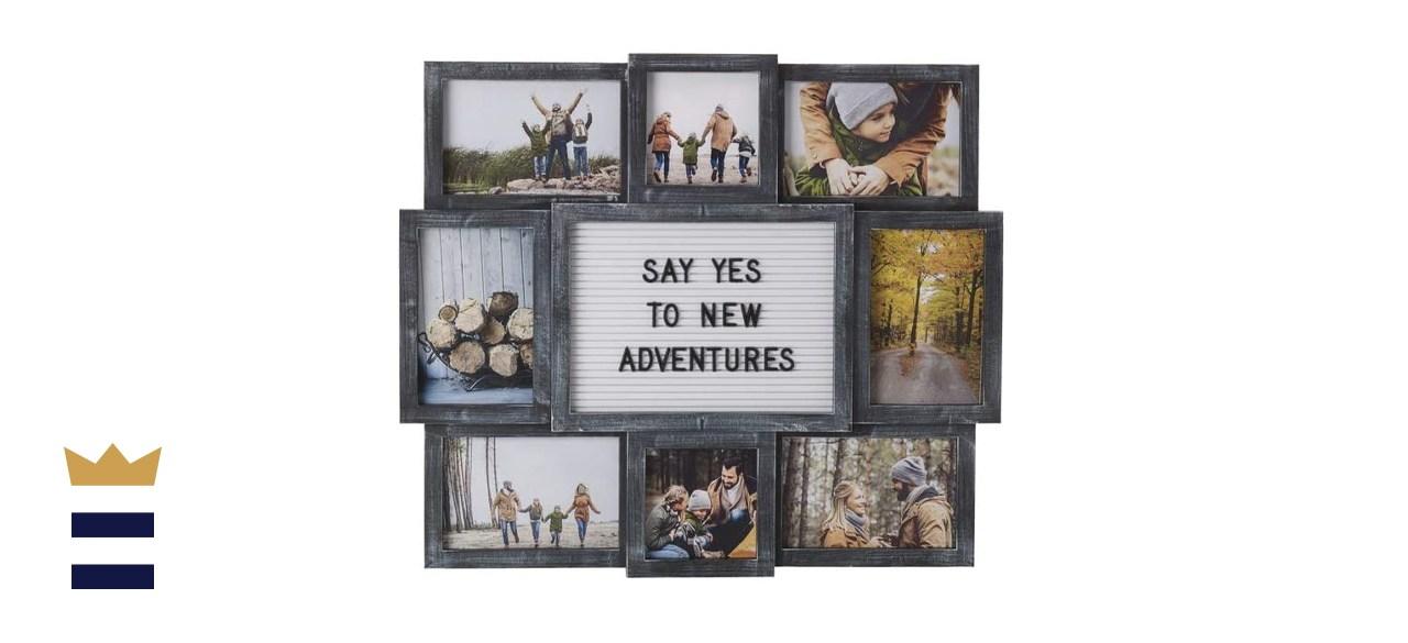 Melannco Letterboard Photo Frame Collage