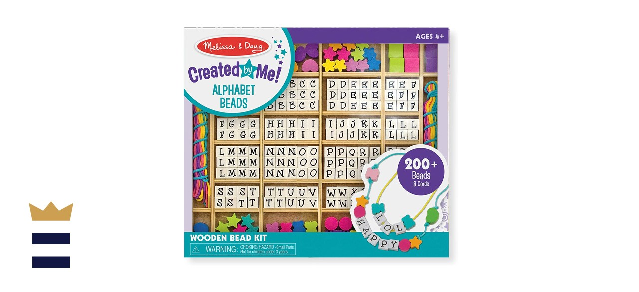 Melissa & Doug Created by Me Wooden Stringing Beads Jewelry Making Kit