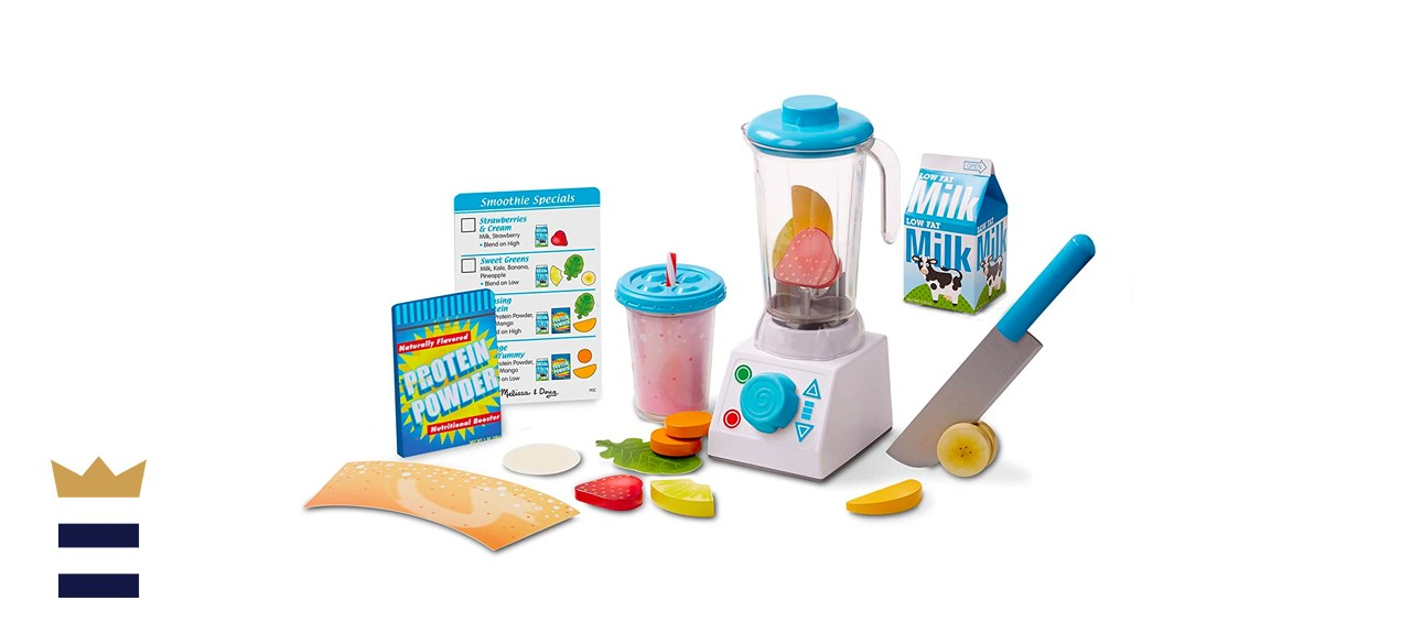 Melissa & Doug Smoothie Maker Blender Set with Play Food