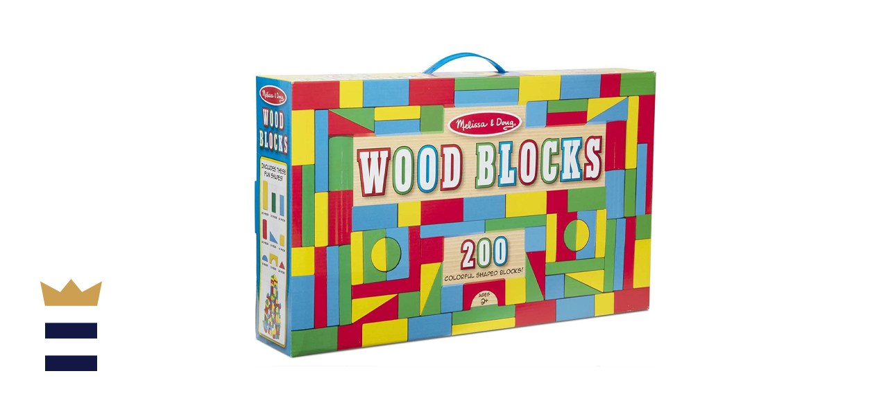 Melissa & Doug Wooden Building Block Set - 200 Blocks