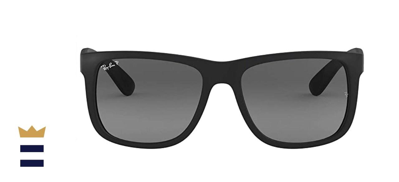 Ray-Ban Rb4165 Justin Polarized Rectangular Sunglasses