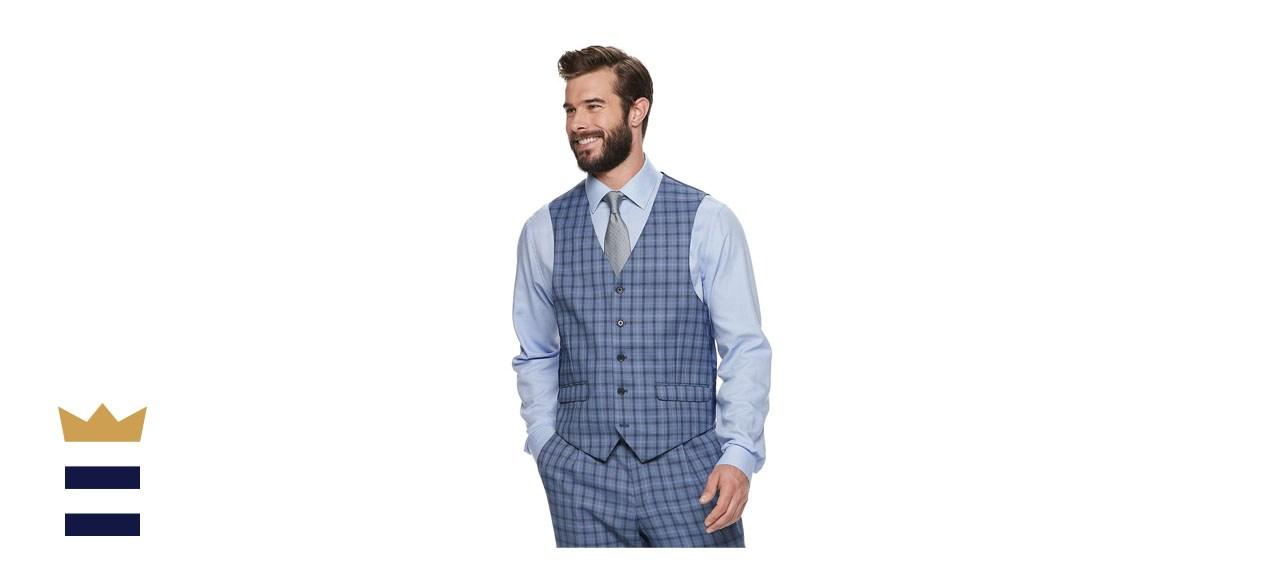 Men's Steve Harvey Fitted Stretch Suit Vest