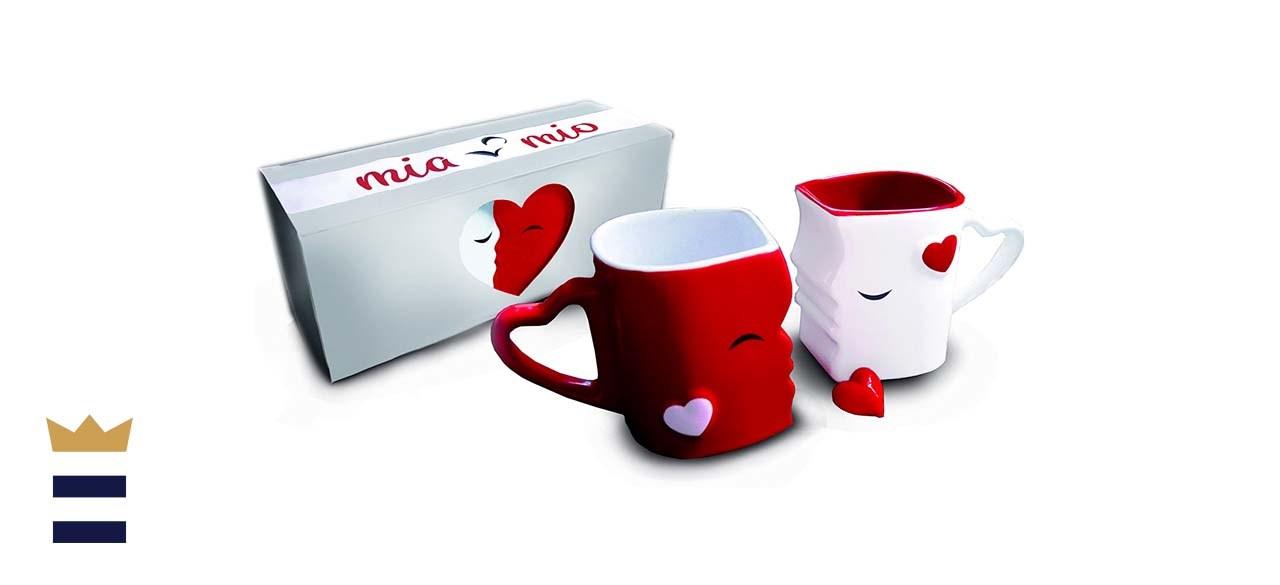 MIAMIO Kissing Coffee Mugs Set