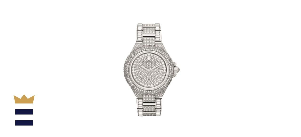 Michael Kors' Camile Crystal Pavé Dial Encrusted Ladies Watch