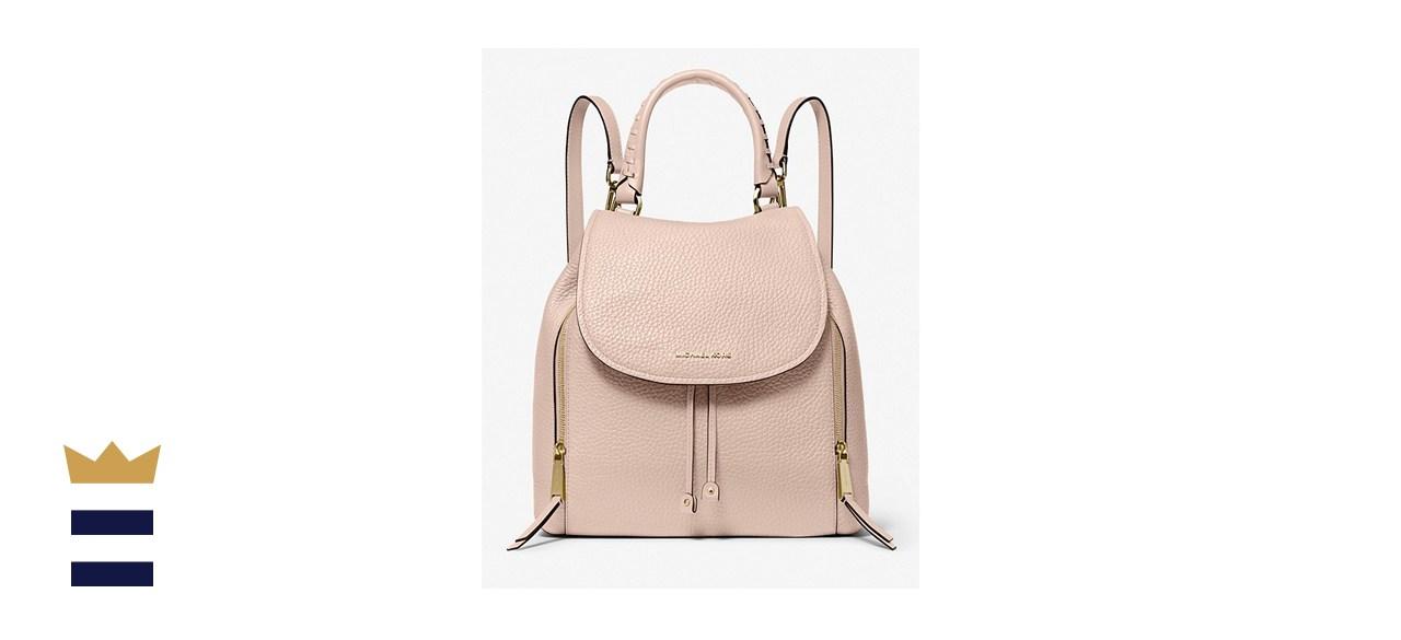 MICHAEL KORS Viv Large Pebbled Leather Backpack