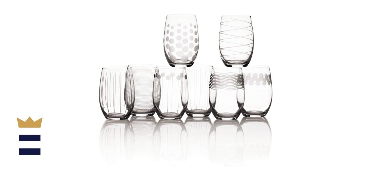 Mikasa Cheers Stemless Wine Glass Set