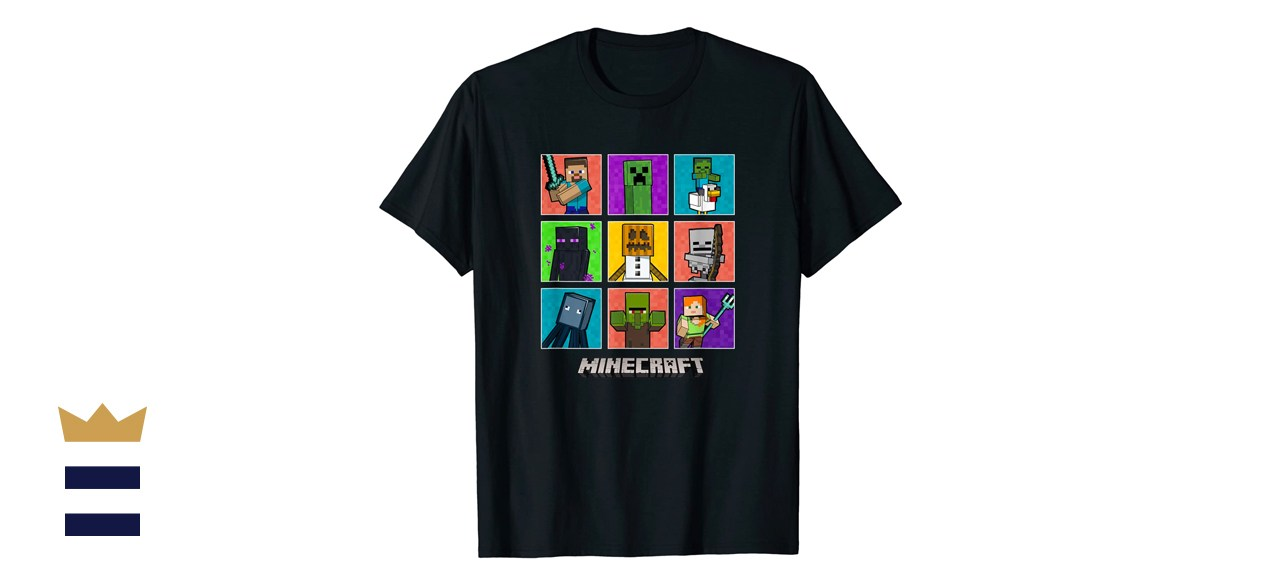 Minecraft Group Shot Colored Box Up T-Shirt