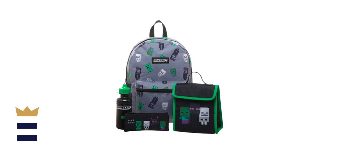 Minecraft Kids Minecraft Backpack 4-Piece Set