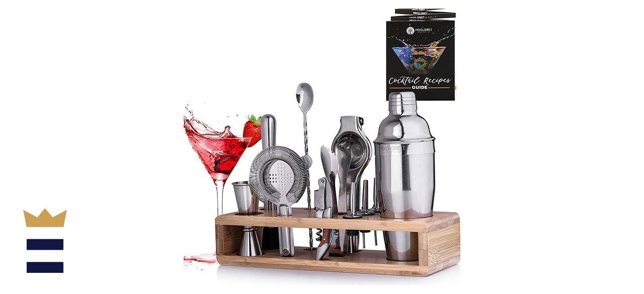 Mixologist World Store 12-Piece Mixology Bartender Kit with Stand