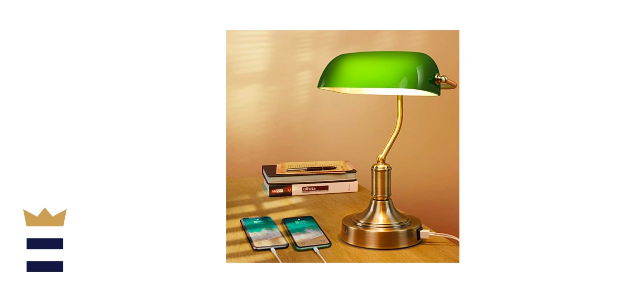 Mlambert Store Green Glass Touch Control Vintage Table Lamp