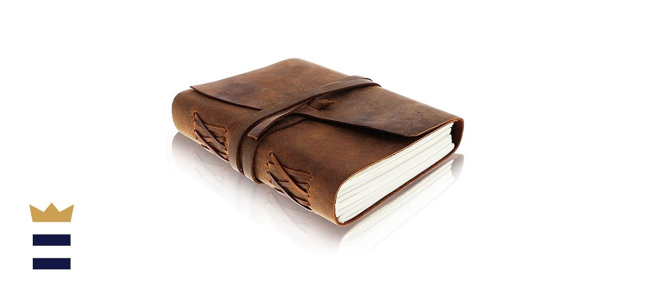 Moonster Vintage Handmade Bound Notepad for Men & Women