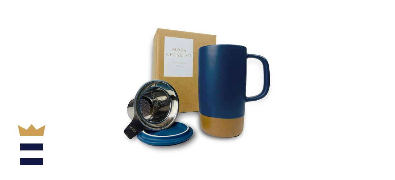 Mora Ceramics Large Tea Mug with Loose Leaf Infuser