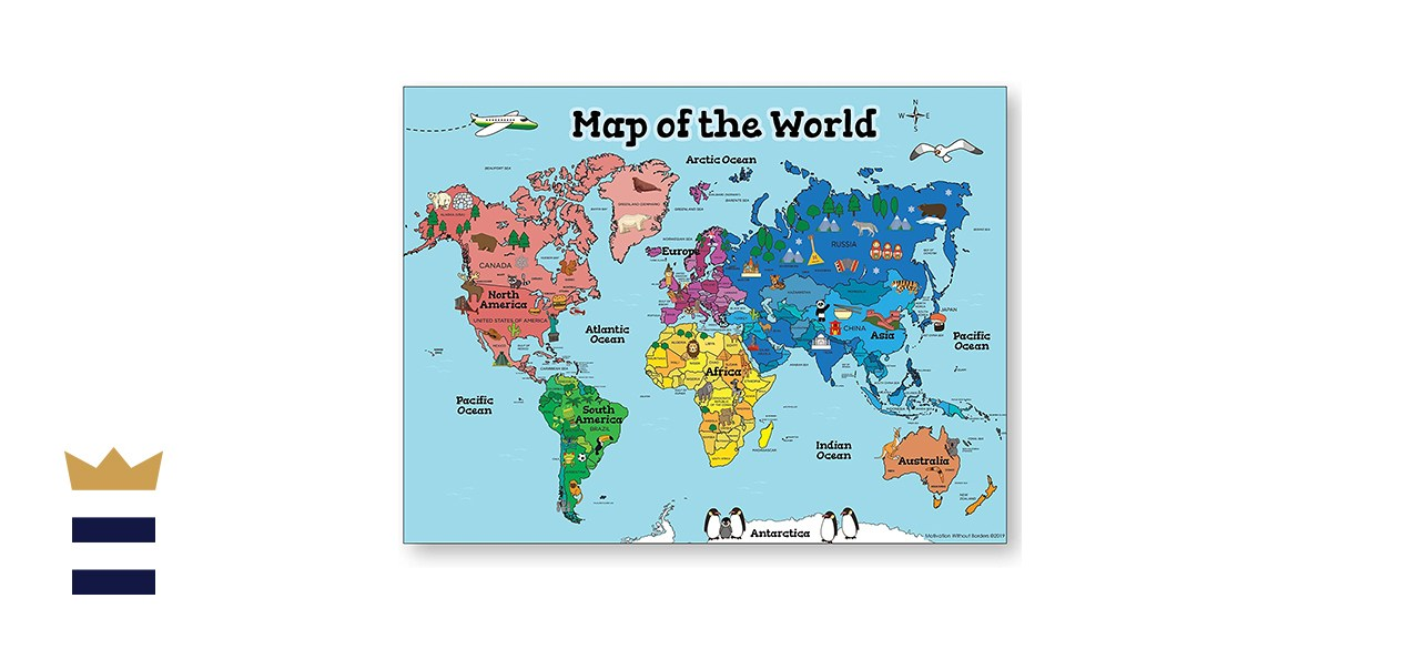 Motivation Without Borders World Map for Kids