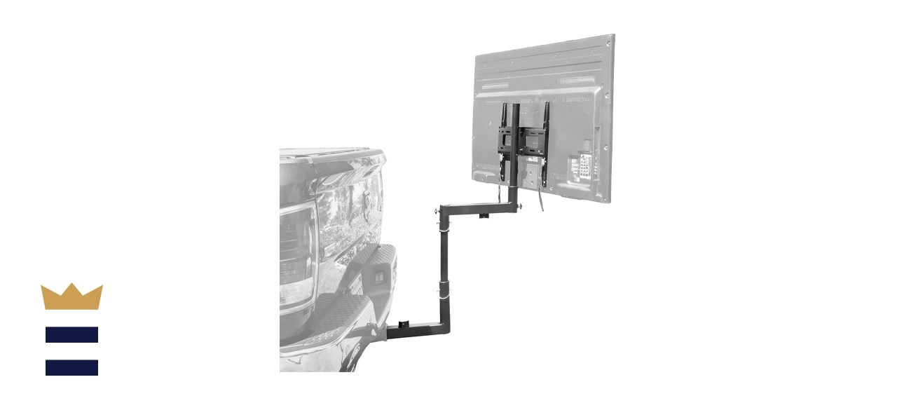 Mount-It! Tailgate TV Mount | Full Motion Tailgate TV Stand for 2 Inch Receiver Hitch
