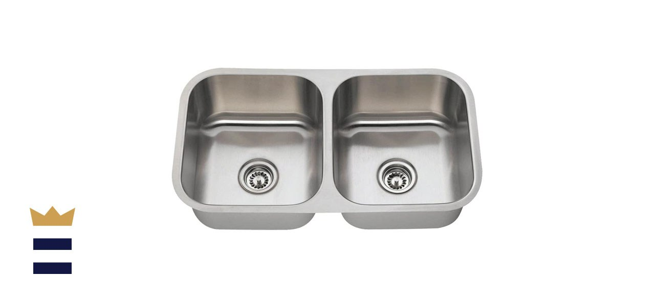 Mr. Direct Equal Double-Bowl, Stainless Steel Sink