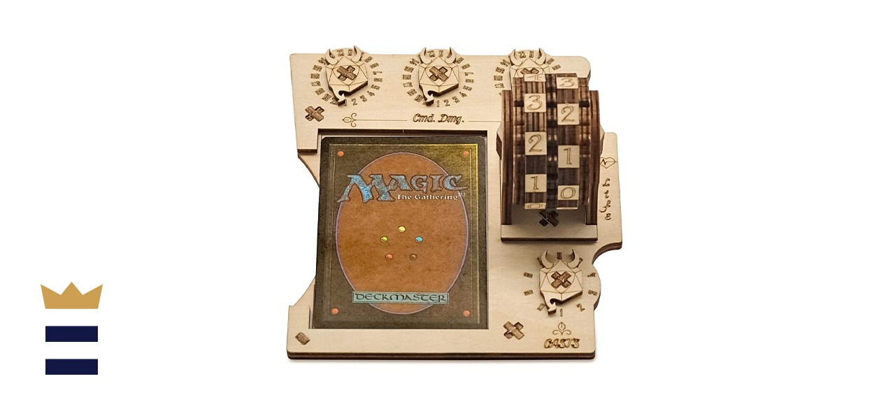 MTG Commander EDH Command Zone Tray with Life Counter