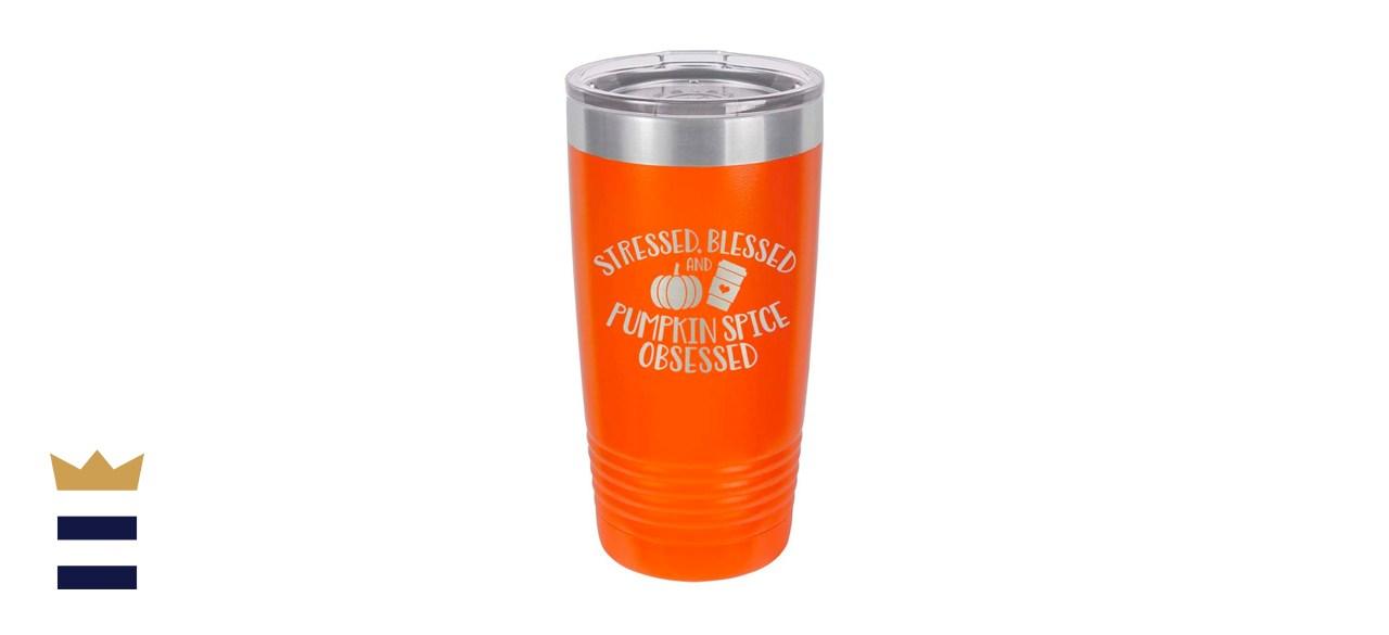 Orange 20 oz Drink Tumbler