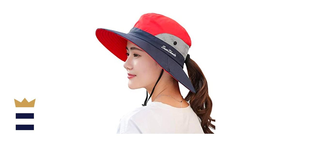 Muryobao Women's Ponytail Sun Hat