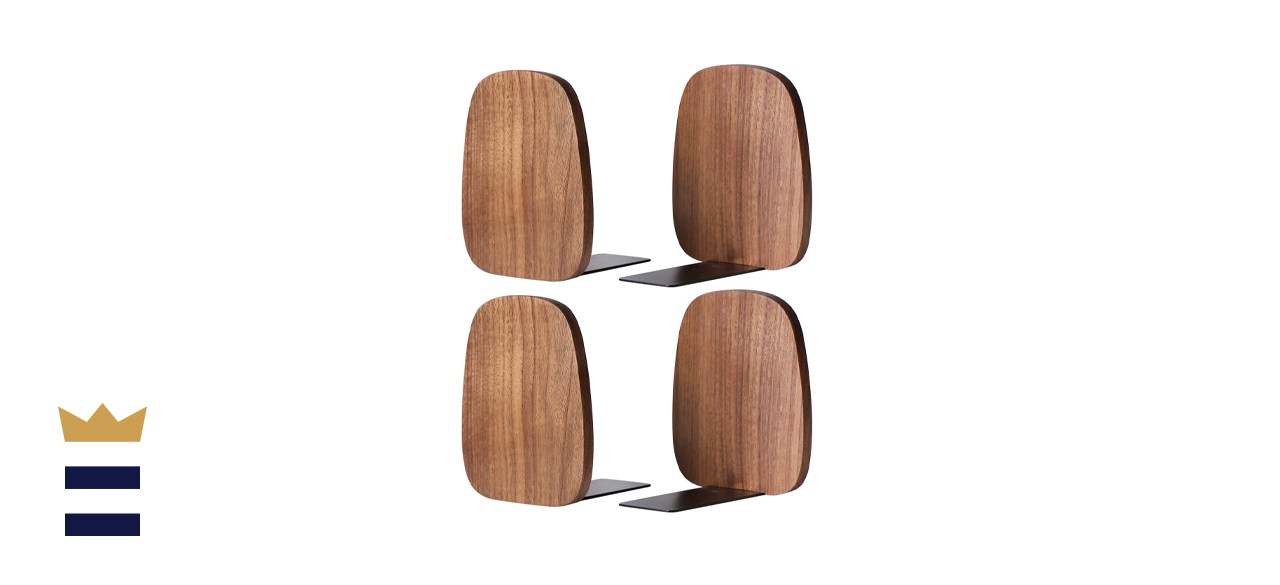 Muso Wood Bookends for Shelves