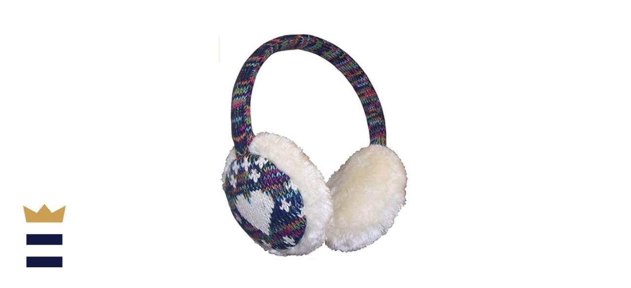 N'Ice Caps' Girls' Faux-Fur Plush Padded Adjustable Winter Earmuff