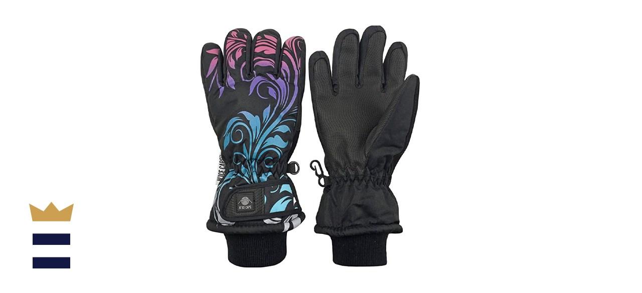 N'Ice Caps Kids' Waterproof Thinsulate Snow Ski Gloves