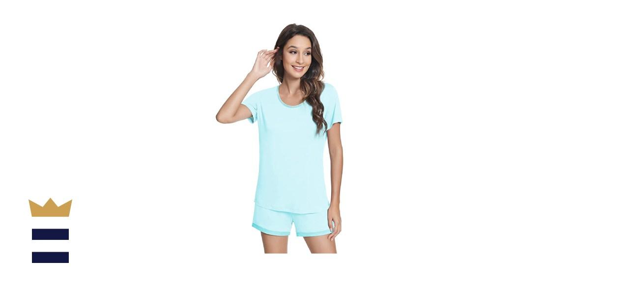 NACHILA Women's Pajamas Set Bamboo Sleepwear