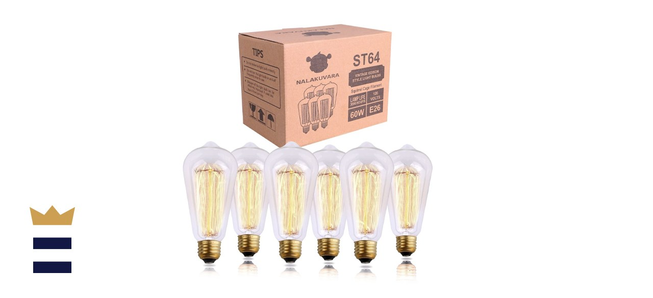 NALAKUVARA Clear Glass Antique Style Edison Light Bulbs