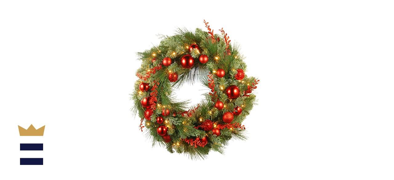 National Tree Company Pre-Lit Christmas Wreath