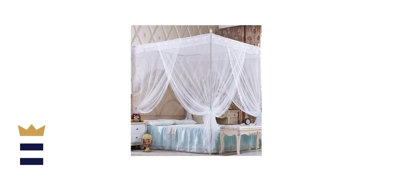 Nattey 4 Corners Princess Bed Curtain Canopy