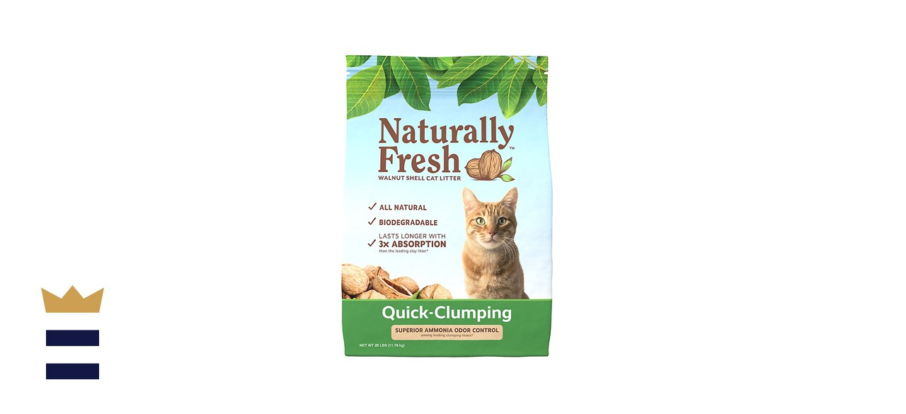 Naturally Fresh Unscented Quick-Clumping Walnut Cat Litter