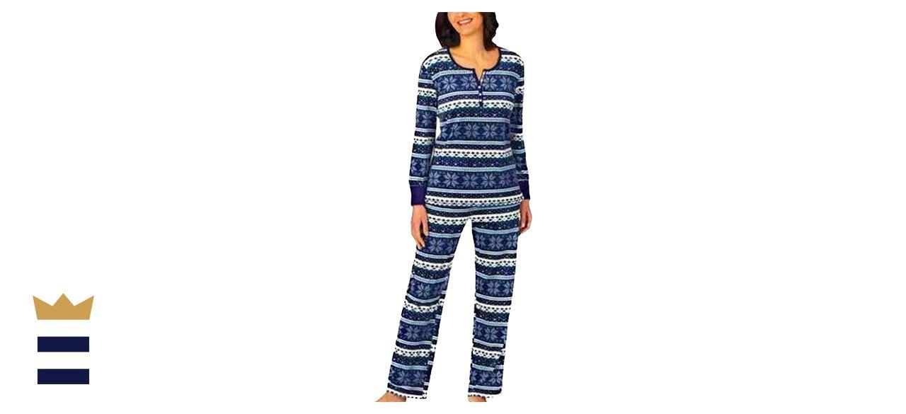 Nautica Women's Two-Piece Fleece Sleepwear Set