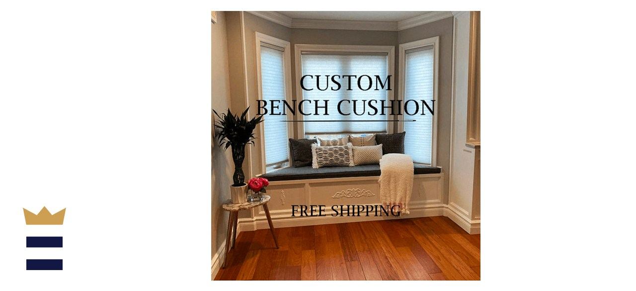 NCPatioCushions Custom Bay Indoor Window Cushion