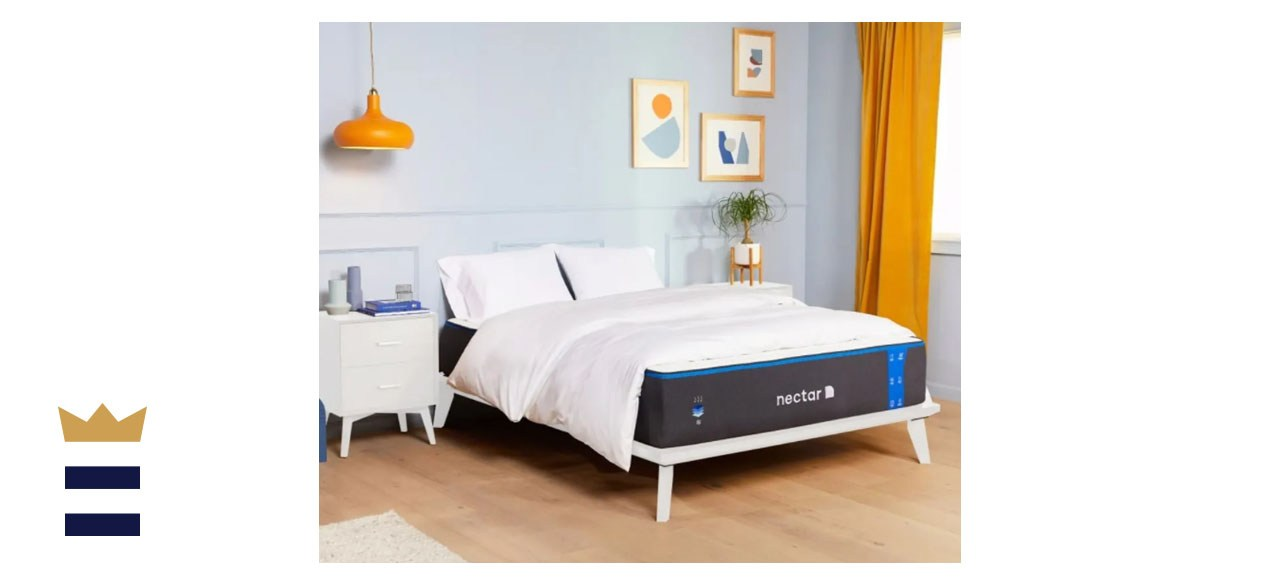 Image of a Nectar mattress in a bedroom