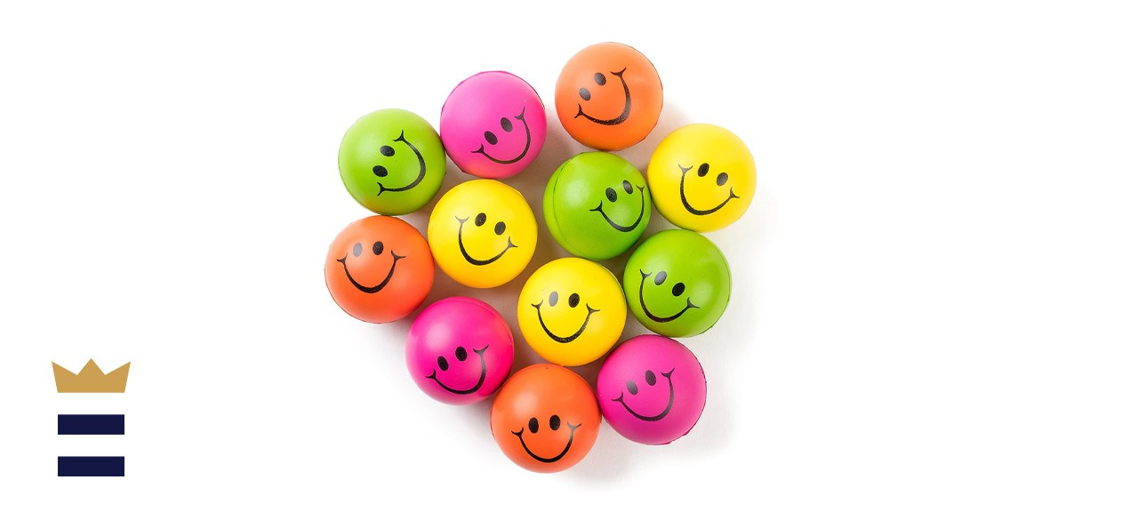 Neliblu Be Happy! Neon Smiley Face Stress Balls