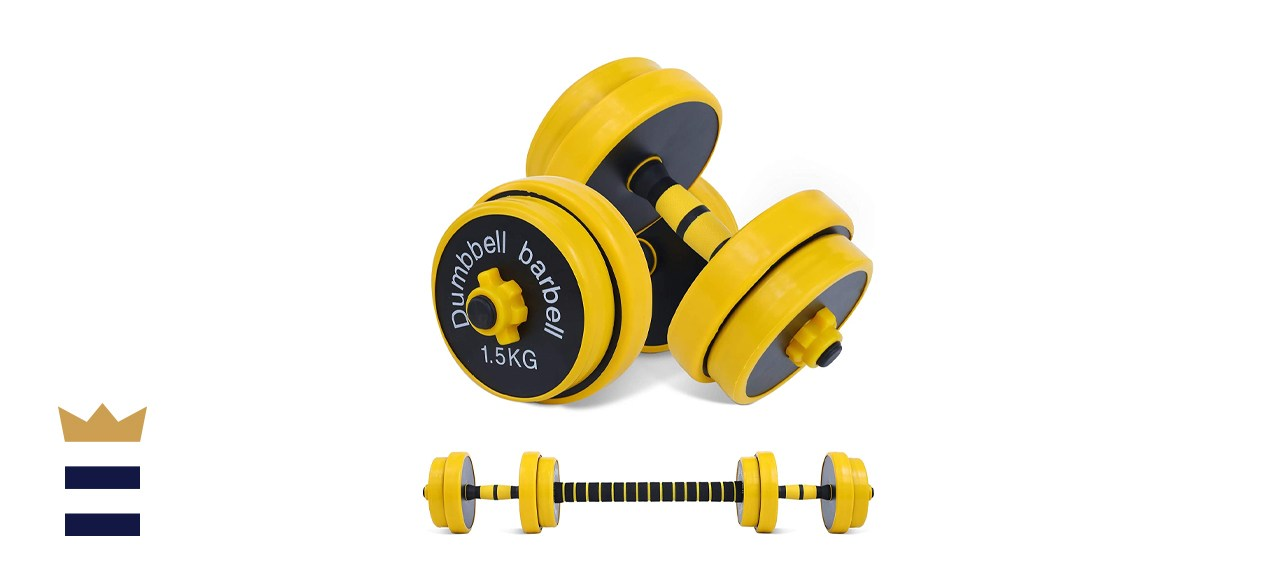 Nice C Adjustable Dumbbell and Barbell Weight Pair