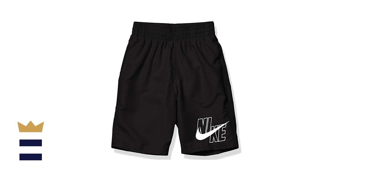 Nike Boys' Big Logo Solid Lap Volley Swim Trunks