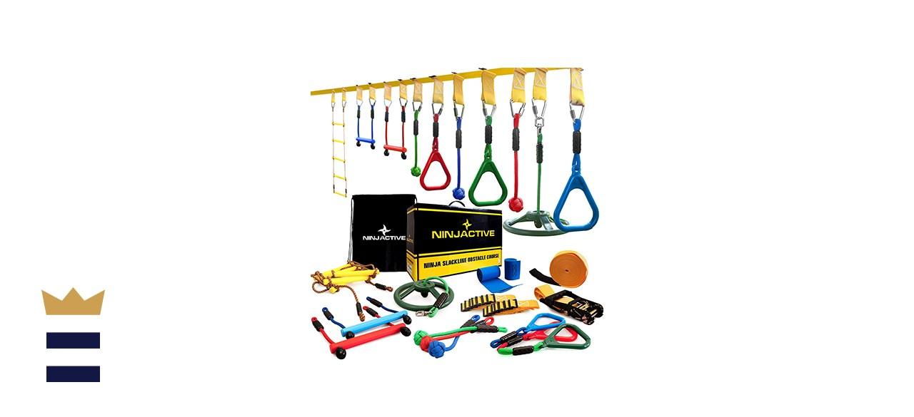 Ninjactive Ninja Line Warrior Obstacle Course for Kids