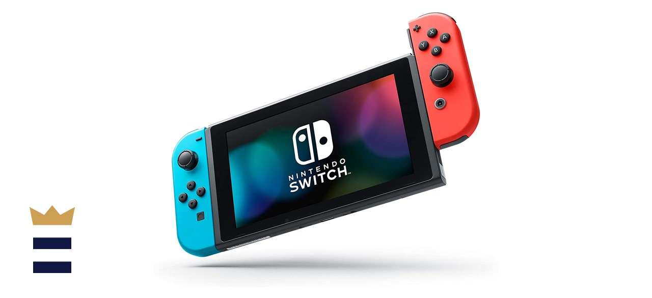 Nintendo Switch with Blue and Red Joy-Con