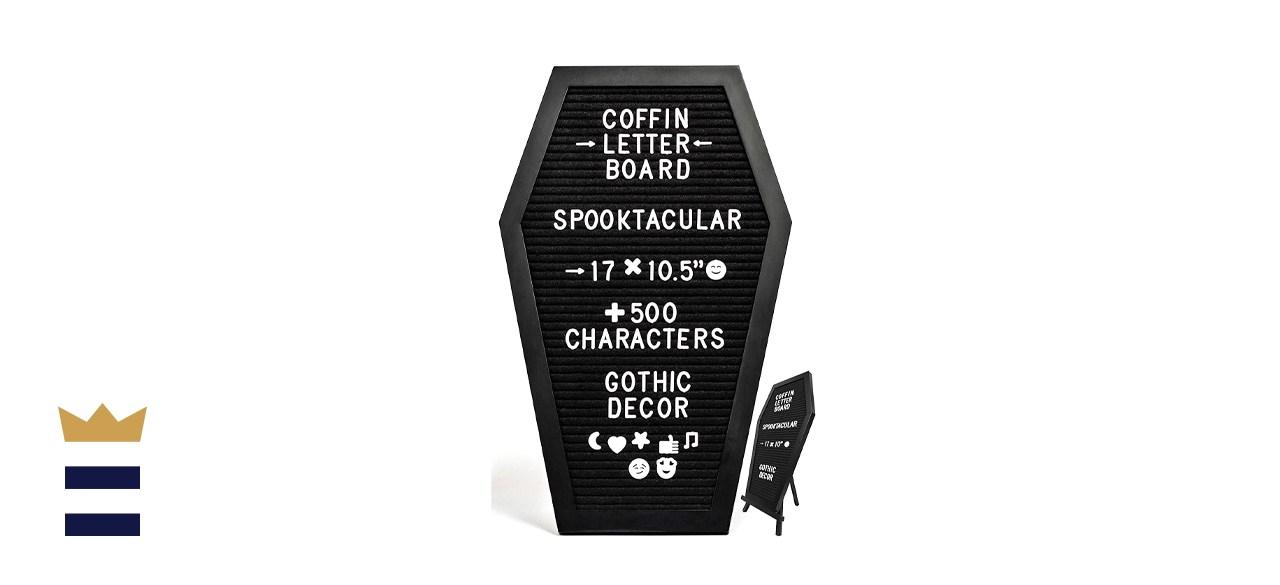 Black Felt Coffin Gothic Message Board