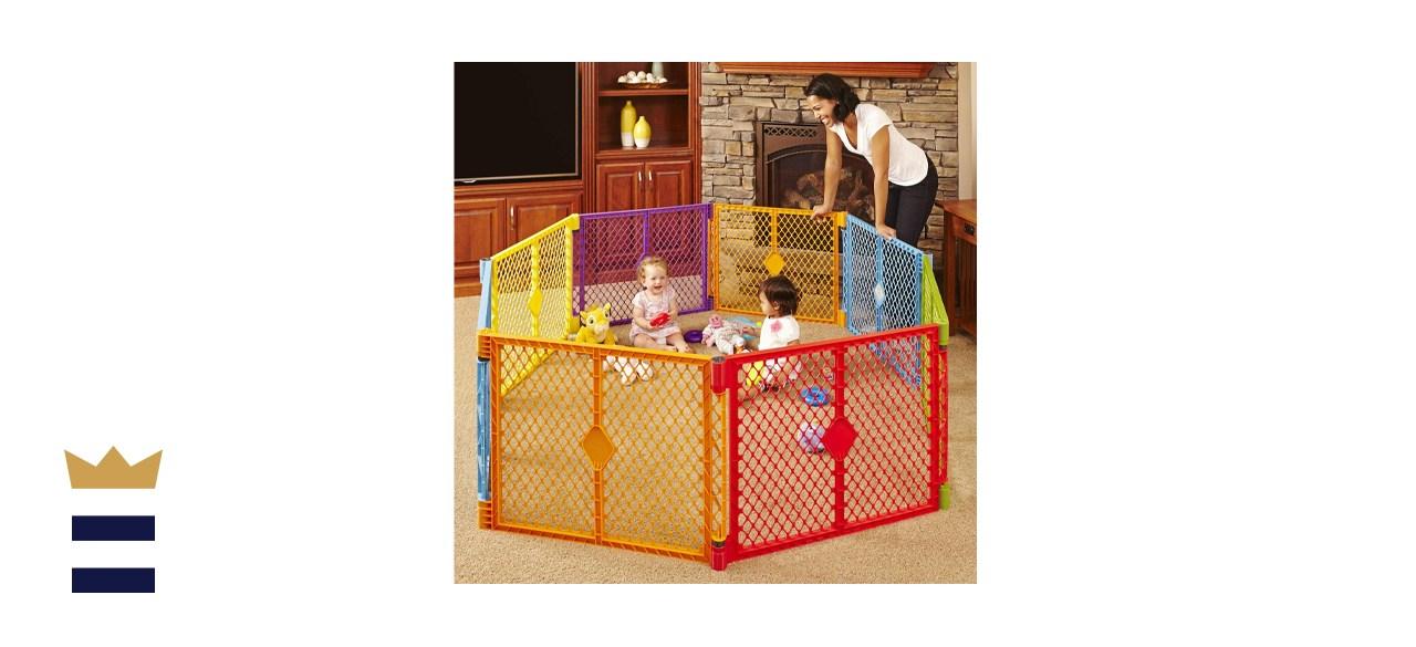 North States Superyard Colorplay 8-Panel Play Yard