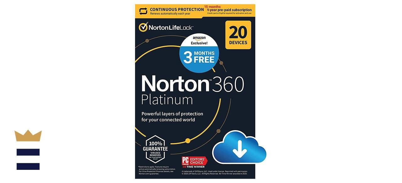 Norton 360 Platinum Antivirus Software