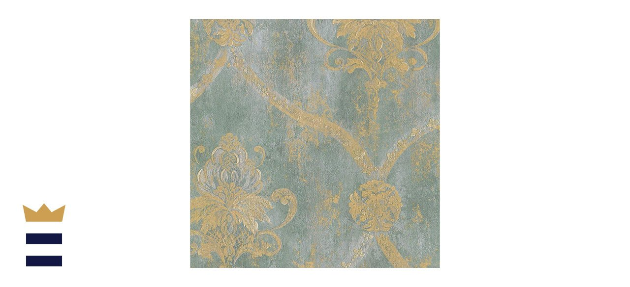 Norwall's French Faux Damask Wallpaper