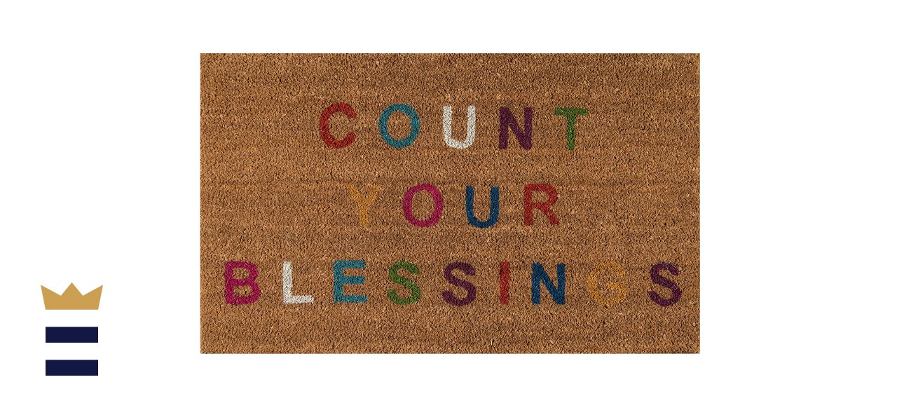 Novogratz Aloha Collection Count Your Blessings Doormat