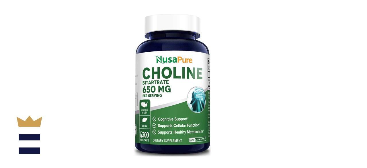 NusaPure Choline Bitartrate 650 milligrams