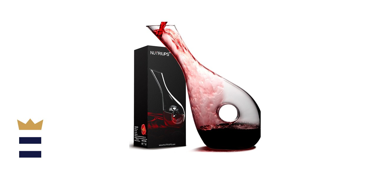 Nutriups Wine Decanter with Hollow Design