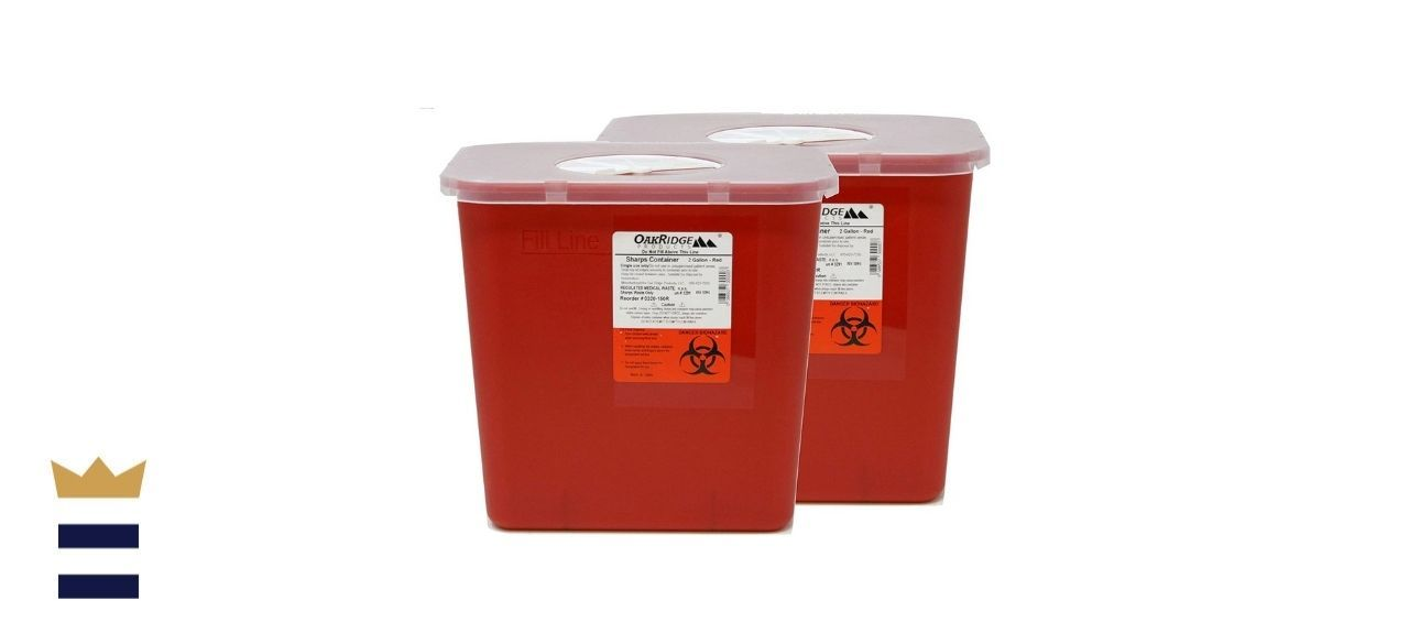OakRidge Products' Sharps and Biohazard Waste Disposal Container